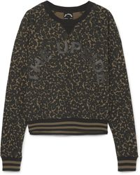 The Upside - Printed Cotton-jersey Sweatshirt - Lyst