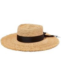 Lack of Color - The Ventura Frayed Grosgrain Trimmed Straw Hat - Lyst