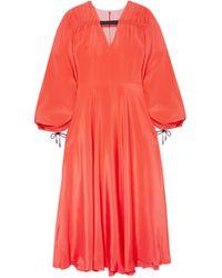 ROKSANDA - Houma Silk Crepe De Chine Midi Dress - Lyst