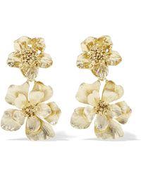 Oscar de la Renta - Gold-plated Clip Earrings - Lyst