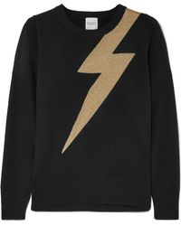 Madeleine Thompson - Greve Metallic Intarsia Cashmere Sweater - Lyst
