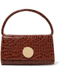 Little Liffner - Baguette Croc-effect Leather Shoulder Bag - Lyst
