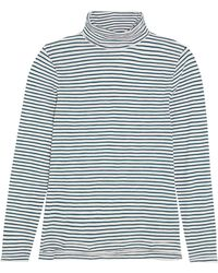 Madewell - Theo Striped Cotton-jersey Turtleneck Top - Lyst