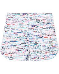 Lucas Hugh - Glitch Printed Stretch Shorts - Lyst