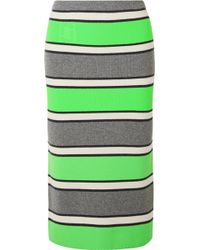 Marc Jacobs - Striped Cashmere Midi Skirt - Lyst