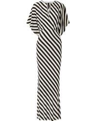 Norma Kamali - Striped Stretch-jersey Maxi Dress - Lyst