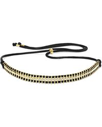 Jemma Wynne | 18-karat Gold, Diamond And Cord Necklace | Lyst