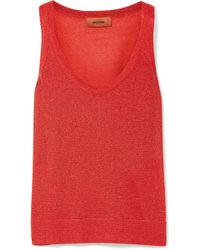 Missoni - Metallic Knitted Tank - Lyst