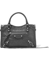 Balenciaga - Classic City Mini Textured-leather Tote - Lyst
