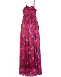 Balenciaga - Ruffled Floral-print Silk-jacquard Gown - Lyst