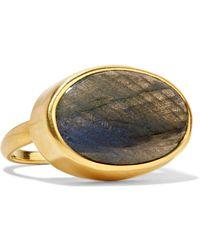 Pippa Small - 18-karat Gold Labradorite Ring - Lyst