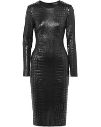 Tom Ford - Croc-effect Lacquered-jersey Dress - Lyst