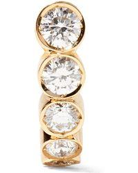 Sophie Bille Brahe - Petite Boucle 18-karat Gold Diamond Earring - Lyst