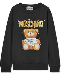 Moschino - Printed Stretch-cotton Jersey Jumper - Lyst