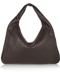Bottega Veneta - Maxi Veneta Intrecciato Leather Shoulder Bag - Lyst