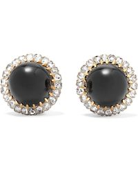 Fred Leighton - 18-karat Gold, Platinum, Diamond And Onyx Clip Earrings - Lyst