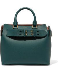 Burberry - Textured-leather Tote - Lyst