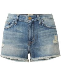 Current/Elliott - The Boyfriend Distressed Denim Shorts - Lyst