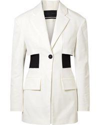 Proenza Schouler - Panelled Cotton-blend Twill Blazer - Lyst