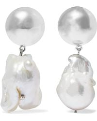 Sophie Buhai - Francis Silver And Pearl Earrings - Lyst