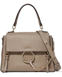 Chloé - Faye Day Large Leather And Suede Shoulder Bag - Lyst