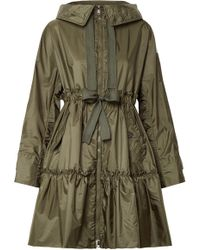 Moncler - Hooded Ruffled Shell Jacket - Lyst