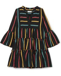 Caroline Constas - Lyssa Striped Cotton-blend Mini Dress - Lyst