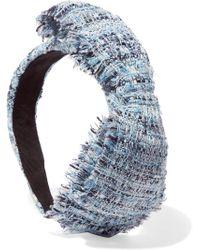Eugenia Kim - Misti Bow-embellished Hemp-blend Bouclé Headband - Lyst