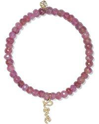 Sydney Evan - Love Sapphire, Diamond And 14-karat Gold Bracelet - Lyst