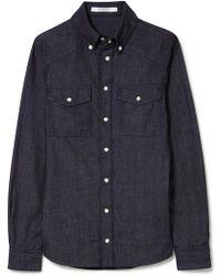 Givenchy - Printed Denim Shirt - Lyst