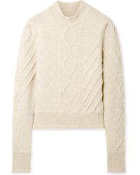Isabel Marant - Brantley Cable-knit Wool-blend Jumper - Lyst