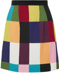 House of Holland - Patchwork Voile Mini Skirt - Lyst