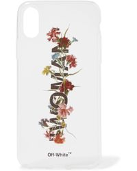 Off-White c/o Virgil Abloh - Floral-print Acrylic Iphone X Case - Lyst