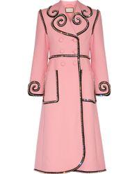 Gucci | Swarovski Crystal-embellished Wool Coat | Lyst