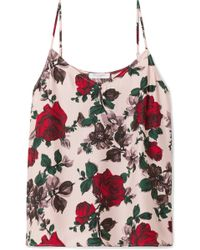 Equipment - Layla Floral-print Washed-silk Camisole - Lyst
