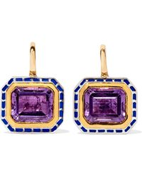 Alice Cicolini - 22-karat Gold, Sterling Silver And Amethyst Earrings - Lyst