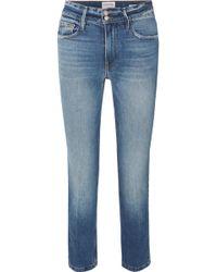 FRAME - Le Sylvie High-rise Slim-leg Jeans - Lyst