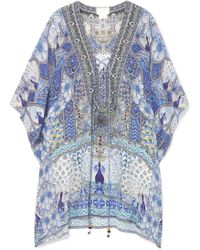 Camilla - Wings To Fly Silk Crepe De Chine Kaftan - Lyst