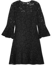 Valentino - Ruffled Cotton-blend Guipure Lace Mini Dress - Lyst