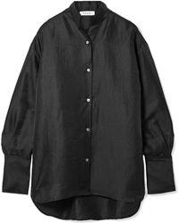 FRAME - Oversized Linen-blend Shirt - Lyst