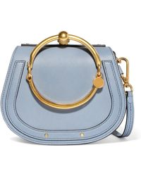 Chloé - Nile Bracelet Small Textured-leather And Suede Shoulder Bag - Lyst