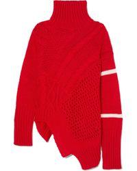 Preen Line - Serenity Asymmetric Panelled Knitted Turtleneck Jumper - Lyst
