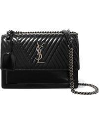Saint Laurent | Monogramme Sunset Medium Glossed-leather Shoulder Bag | Lyst