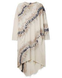 Raquel Allegra - Oversized Tie-dyed Cotton-blend Jersey Dress - Lyst