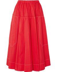 Marni - Cotton-poplin Midi Skirt - Lyst