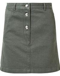 A.P.C. - Adele Denim Mini Skirt - Lyst