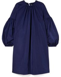 CALVIN KLEIN 205W39NYC - Gathered Taffeta Dress - Lyst