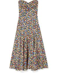 Veronica Beard - Annika Floral-print Silk-blend Jacquard Midi Dress - Lyst