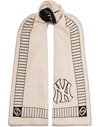 Gucci - Écharpe En Laine Intarsia à Appliqué Par New York Yankees - Lyst 1169796fe2b