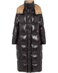 c407cb68a Moncler Topaze Shell Coat in Black - Lyst